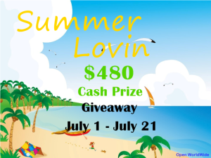 Summer Lovin $480 Cash Prize Giveaway