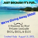 Favorite Vacation Spot and 3 Chances to Win Giveaway